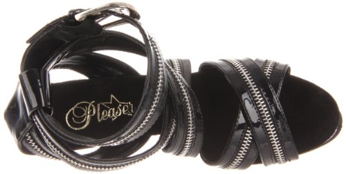 Pleaser 663 DELIGHT EU Blk Blk 43 10 UK qvpwOFq