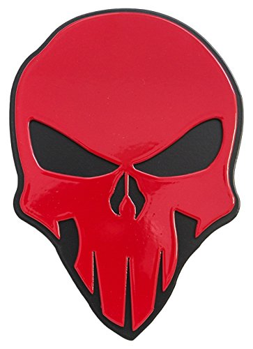 All Sales AMI 1042RK Skull Style Red on Black Hitch Cover
