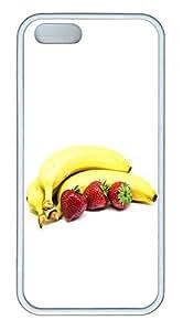 iPhone 5 5S Case The Gourmet Banana Strawberry TPU Custom iPhone 5 5S Case Cover White
