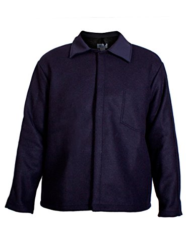 National Safety Apparel  C09WL2X30 Wool Coat, 32 oz., XX-Large, Navy by National Safety Apparel Inc