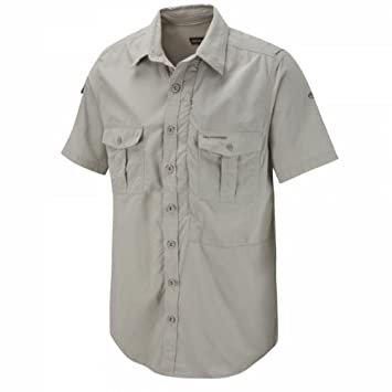 Craghoppers Men's NosiLife Short Sleeved Shirt - Parchment, Small