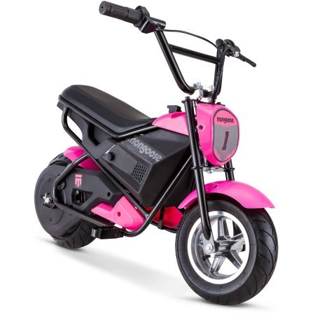 Mongoose 24V Mini Bike, Pink, 250-watt chain driven motor by Mongoose