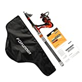 LONPAR Telescopic Fishing Rod and Reel Combos Nylon Line and Carrier Bag Suit for Travel Durable – Lightweight – Portable – Convenient Fresh or Salt Water Spinning Rod Kit