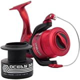 Ocean Master 70 Fixed Spool Sea / Beach Fishing Reel Beachcaster With Line