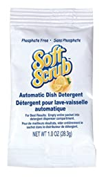 Dial 1102960 Soft Scrub Automatic Dish Detergent, 1oz Pouch (Pack of 200)