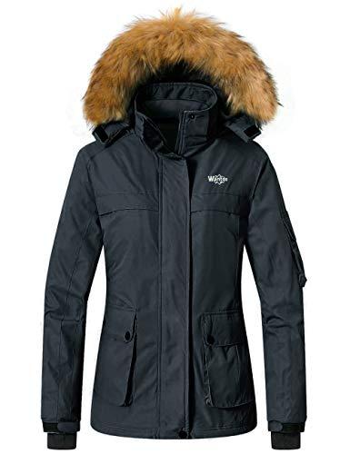 Wantdo Women's Waterproof Ski Jacket Winter Snow Parka Mountain Rain Coat
