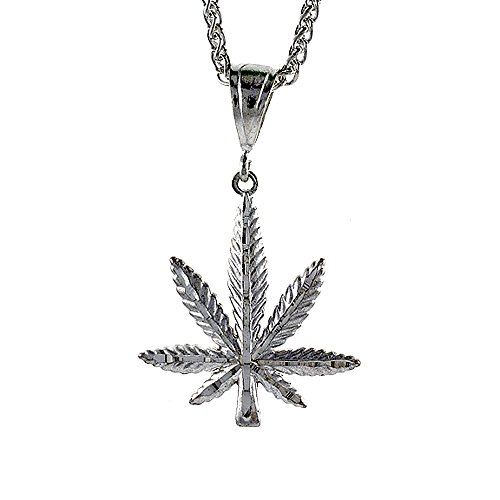 Sterling Silver Leaf Pendant inch