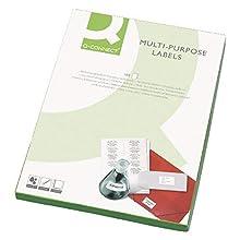 Q Connect, Etiqueta multiusos 99,1 x 93,1 mm, pack de 600