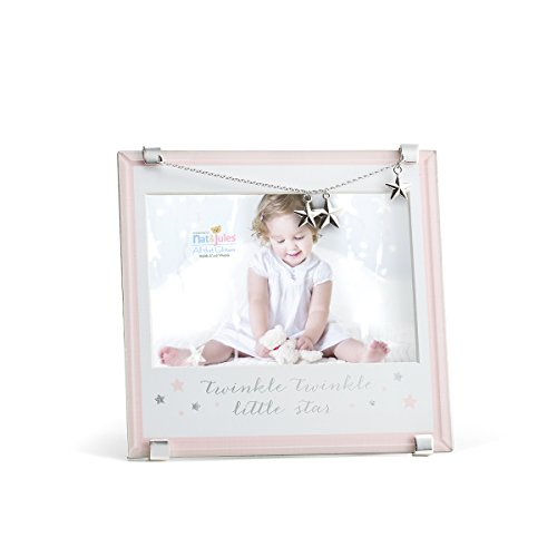 Baby Boo Newborn Blankets - Nat and Jules Pink Twinkle Twinkle Little Star Frame
