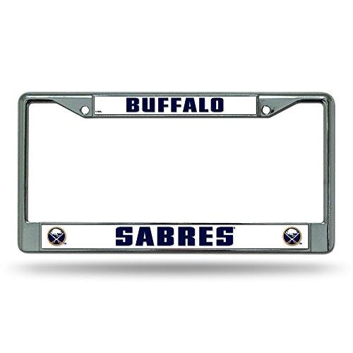 Rico Industries NHL Buffalo Sabres Standard Chrome License Plate Frame