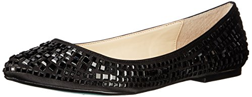 Blu By Betsey Johnson Womens Sb-coco Dress Flat Black Satin