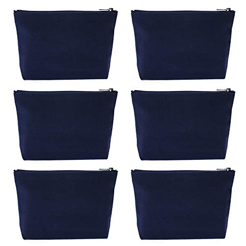 - Aspire 6-Pack Navy Canvas Zipper Bag 7 1/2