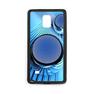 Blue Art Samsung Galaxy Note 4 Cell Phone Case Black UI8287080