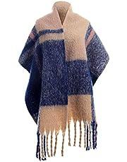 Oversized Womens Scarfs - Big Tartan Blanket Pashimina Ladies Scarves Shawl for Winter