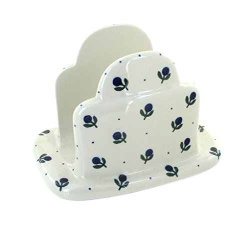 Polish Pottery Blueberry Napkin Holder