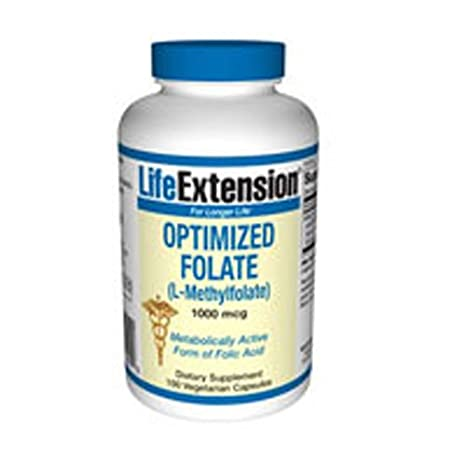 Life Extension Optimized Folate (L-Methylfolate) (1000mcg ...