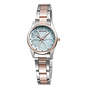 Ladies Water-Resistant Stainless Steel Wrist Watch for Women - Female Rose Gold, Silver …
