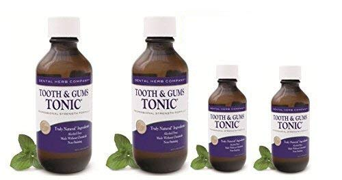 Alcohol-Free Professional Oral Rinse Dental Herb Company Healthy Tooth and Gums Tonic Pack 2 + 2 FREE Travel Size Tonic - Teeth And Gums