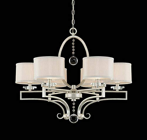 Savoy House 1-250-6-307, Rosendal 6-Light Chandelier, Silver Sparkle