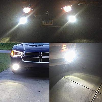 Alla Lighting 2800lm Xtreme Super Bright 9006 LED Bulbs Fog Light High Illumination COB-72 LED 9006 Bulb HB4 9006 Fog Lights Lamp Replacement - 6000K Xenon White: Automotive