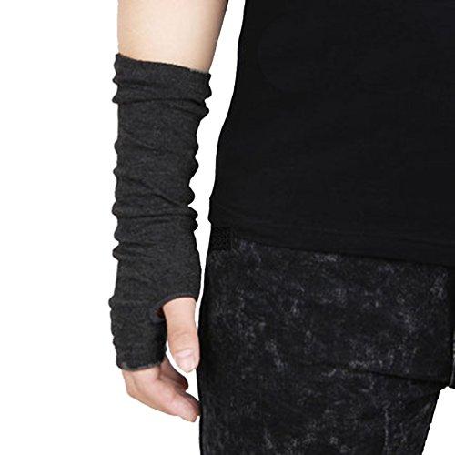 Unisex Elastic Knitted Warm Autumn and Winter Half Finger Fingerless Gloves
