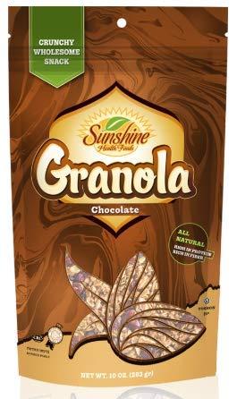 Sunshine Granola Cold Cereal Snack Kosher All Natural - 10 oz (3 Pack) (Chocolate)