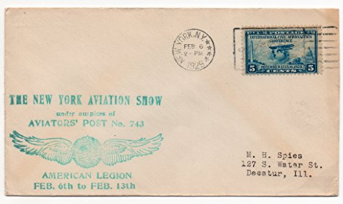 (US Postal Cover 1929 Canceled New York,NY Feb. 6,1929 US Postage Stamp 5 Cent Scott #650)