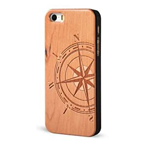 Froolu ? Wood iPhone 5 and 5s Case - Nautical Magnetic Compass