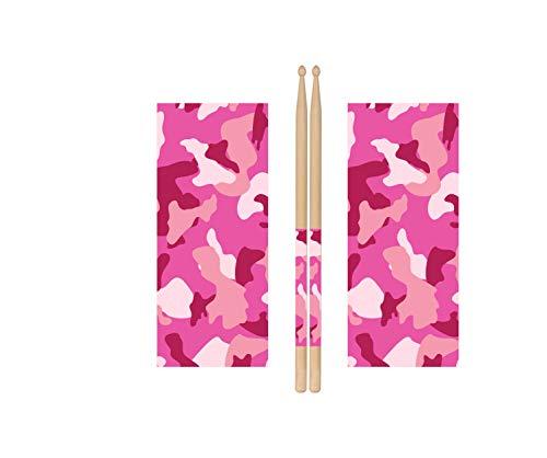 Pink Camo Drum Stick Wraps Drum Percussion Stick Wraps Drum Stick Tape for Drum Sets Starter Kit [Premium Waterproof Vinyl]
