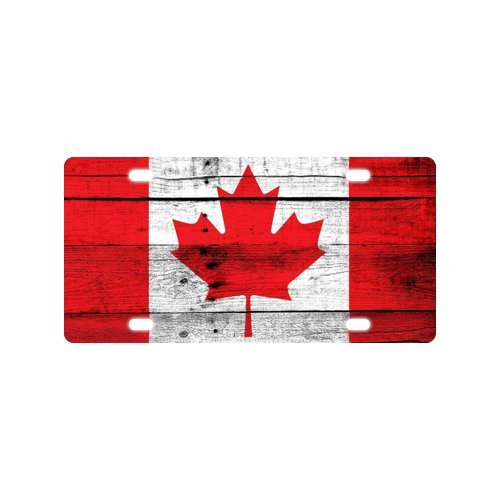Canada Star Trek Costumes (Canada National Flag License Plate with Lightweight-12