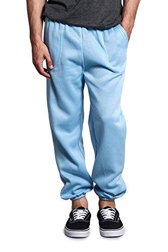 Victorious Men's Elastic Cuff Fleece Sweatpants - HILLSP - Sky Blue - 3X-Large - GG1H