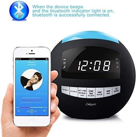 OnLyee Bluetooth Alarm Clock