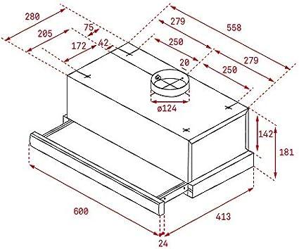 Teka TL1 52 - Campana (Canalizado, 332 m³/h, Montado en pared, Halógeno, 28 Lux), Anchura 50 cm: Amazon.es: Grandes electrodomésticos