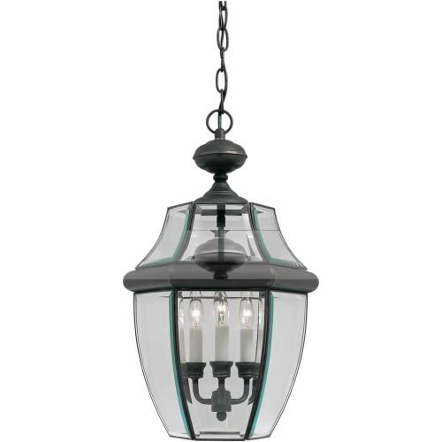 Royal Lantern Bronze (Forte Lighting 1605-03-14 Traditional 3-Light Exterior Hanging Lantern with Clear Beveled Glass, Royal Bronze Finish)