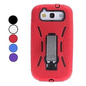 Caso duro desmontable de dise?o con soporte para Samsung I9300 Galaxy S3 (colores surtidos) , Rojo