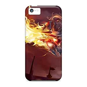 High Grade Corentry Flexible Tpu Case For Iphone 5c - Firey Anime