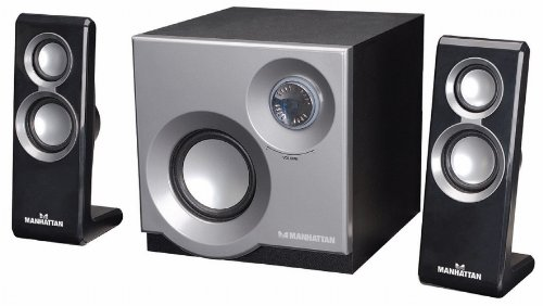 MANHATTAN 3050 2.1 Speaker System with 2 Satellites and 1 Subwoofer (161701) by Manhattan Products