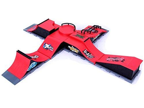Fanci ABS Skateboard Ramps Park Set Toy for Tech Deck Finger Board Simulation Scenarios HB758A + HB758B + HB758C + HB758D + HB758E + HB758F