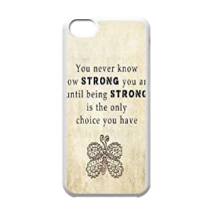 Quotes DIY Cover Case for Iphone 5C,personalized phone case ygtg529324
