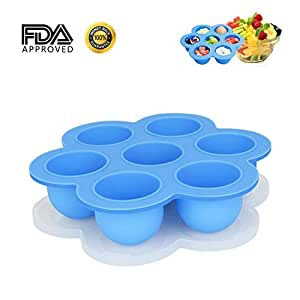 Silicone Egg Bites Molds for Instant Pot Accessories Fit for Instant Pot 5/6/8 qt and Pressure Cooker FDA Approved Baby Food Storage Container Tray with Lid