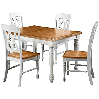 Home Styles 5020 308 Monarch Rectangular Dining Table And Four Double  X Back Chair