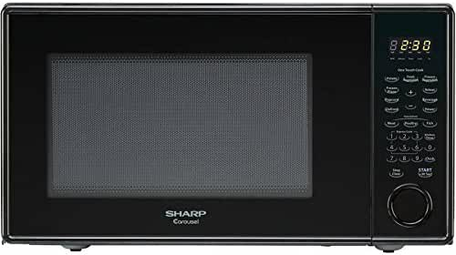 Sharp Carousel 1.3-cu. ft. Countertop Microwave oven, Black(Certified Refurbished)