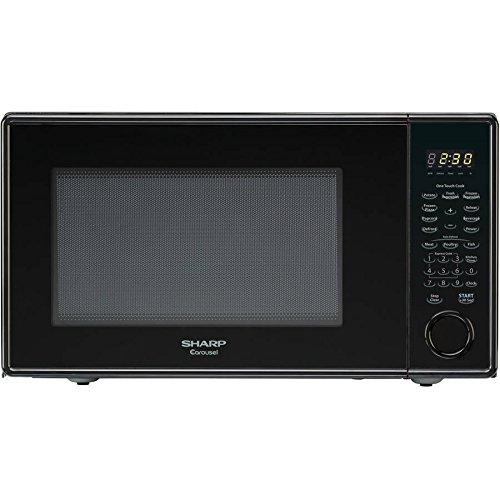 Sharp Carousel 1.3-cu. ft. Countertop Microwave oven, Bla...