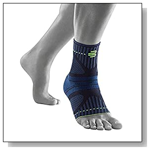 Bauerfeind Sports Ankle Support Dynamic - Ankle Compression Sleeve for Freedom of Movement - 3D AirKnit Fabric for Breathability - Premium Quality & Washable (S, Black)