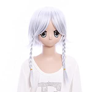 SureWells Cosplay Wigs Cute Pigtail Touhou Project Izayoi Sakuya Costume Wigs