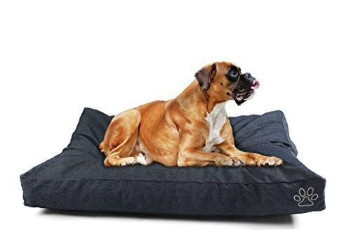 4 Pets DIY Dog Cushion Cover Pet Mat Case Do It Yourself Blue Color Denim XL by 4pets