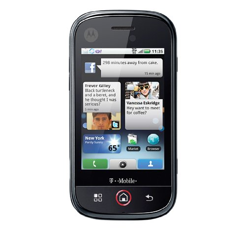 Motorola Dext CLIQ 3G Wi-Fi 5 MP Qwerty Keyboard Android Quad-Band GSM Unlocked Cell Phone - Unlocked Phone - US Warranty - Black - Motorola Bluetooth Camcorder