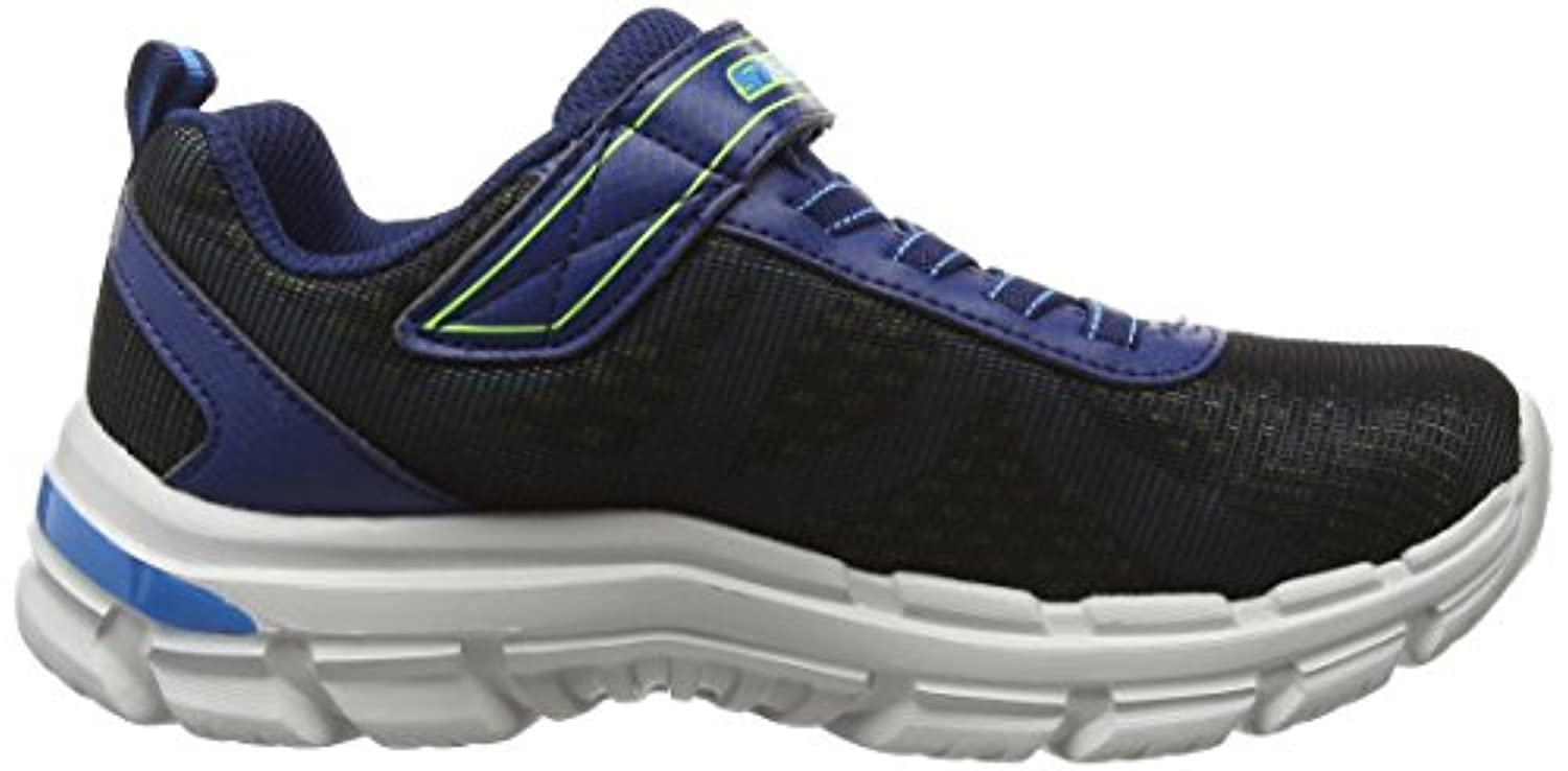 Skechers Nitrate - Brio, Boys Low-Top Sneakers, Blue (Navy Blue), 2 UK (35 EU)