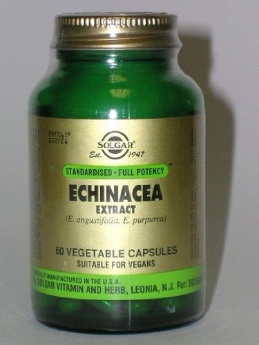 SOLGAR Echinacea Herb Extract Vegetable Caps, 60 -