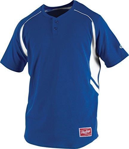 Rawlings Boy's 2-Button Jersey, Royal, Large